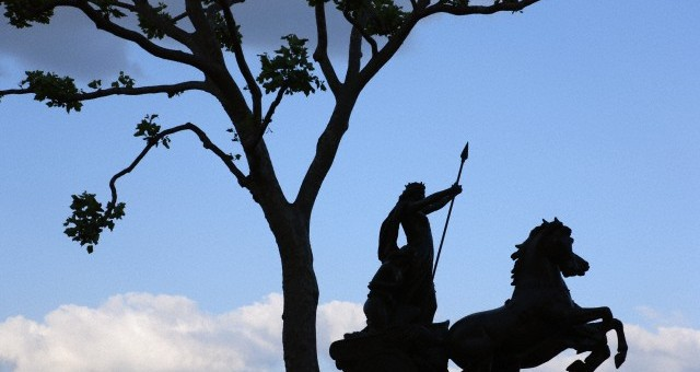 03 Jul 2010, London, England, UK --- Boudica statue in Westminster --- Image by © Paul Panayiotou/Corbis