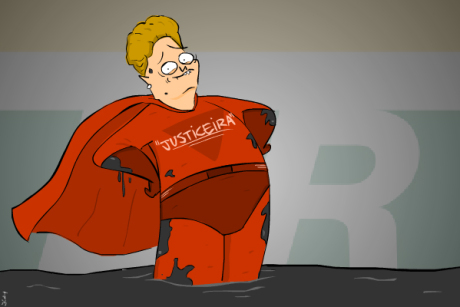 charge Dilma Justiceira