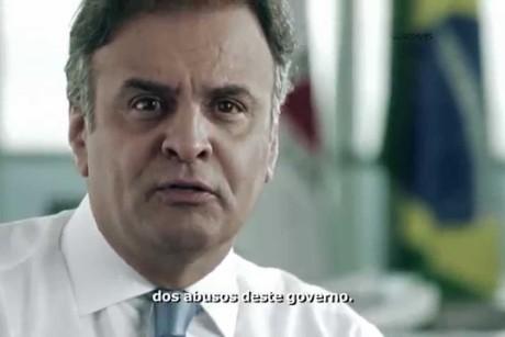 TVs exibem novas inserções do PSDB neste domingo (7) – Aécio Neves