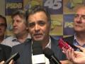 Aécio reforça apoio do PSDB às manifestações do dia 15.
