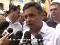 Aécio Neves – Caminhada em Santos – 03/09/2014