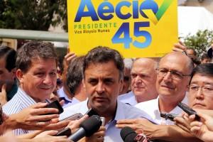 Aécio Neves caminhada SP - Marcos Fernandes8