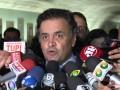 Coletiva Aécio Neves – Entrega do relatório CPMI da Petrobras