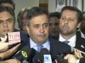 Entrevista coletiva do presidente nacional do PSDB, senador Aécio Neves
