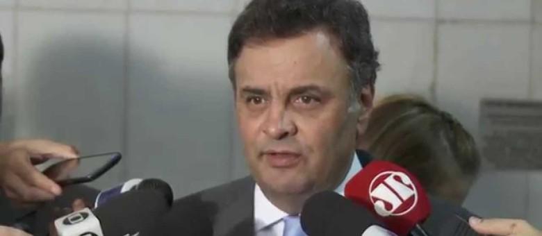 Coletiva do senador Aécio Neves – União do PSDB contra a corrupção