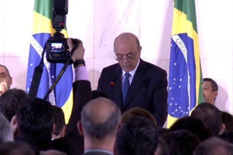 Pronunciamento do Ministro das Relações Exteriores, José Serra