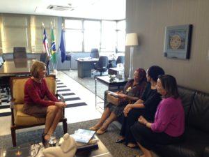 Reunião secretária Luislinda Valois no MP-BA