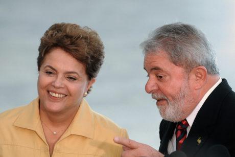 Dilma e Lula em coletiva no Planalto FOTO Wilson Dias ABr