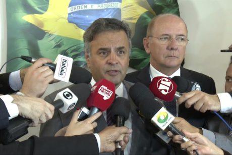 Aécio fala sobre visita do ministro Alexandre de Moraes ao Senado