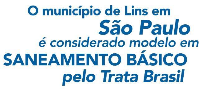 Lins-SP é referência em saneamento básico