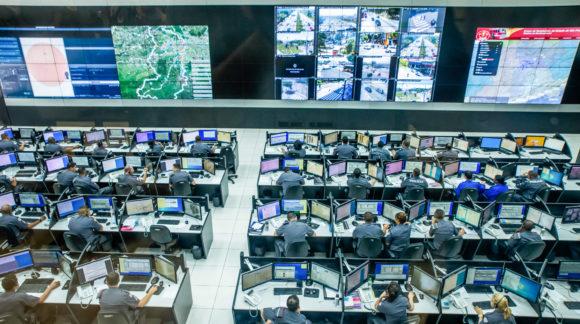 Sistema Detecta na sede do COPOM – Centro de Operações da Polícia Militar. Foto: Alexandre Carvalho