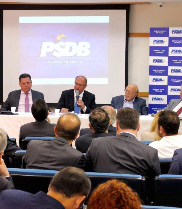 Presidente do PSDB, Geraldo Alckmin fala na reunião executiva do partido. Brasília, 13/12/2017 - Foto Orlando Brito