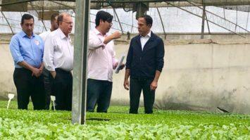 Doria visita Mogi das Cruzes e anuncia que irá rever ICMS de hortaliças no Estado