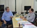 Onevan e o secretário Marcelo Miglioli/ Foto: assessoria