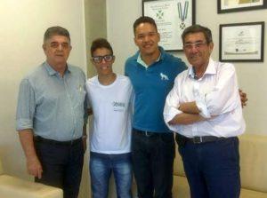 Presidente Marcio, Wesley, Elton e secretário de Turismo Nelson Cintra/ Foto: Divulgação