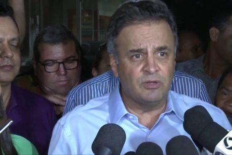 Aécio e líderes tucanos unidos em apoio à candidata Rose Modesto