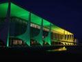 Brasília - Palácio do Planalto iluminado de verde e amarelo para as comemorações de 7 de setembro (Valter Campanato/Agência Brasil)