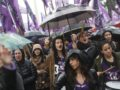 epa05592935 Thousands of people participate in a march called by the social platform 'Ni Una Menos' (Not One Less) in Buenos Aires, Argentina, 19 October 2016. The platform called the protest during the 'Black Wednesday', a day that seeks to put an end to gender violence and other discrimination practices against women, after the violent rape and murder of a 16 year-old in Mar de Plata.  EPA/David Fernández