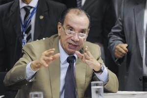 Senador Aloysio Nunes Ferreira (PSDB-SP) durante reunião da Comissão de Constituição, Justiça e Cidadania (CCJ). Em discussão, o projeto que cria cargos efetivos para substituir terceirizados no governo federal